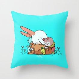 Bunnie Sad Throw Pillow