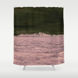 SEA - SNOW - OCEAN - ICE - COLD - COOL - PHOTOGRAPHY Shower Curtain
