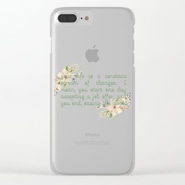 End up saving the world Clear iPhone Case