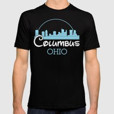 Columbus, Ohio X-LARGE Black Mens Fitted Tee