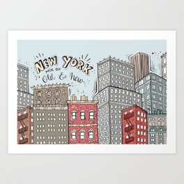 New York - Mix of old and new Art Print