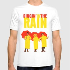 Singin In The Rain MEDIUM Mens Fitted Tee White