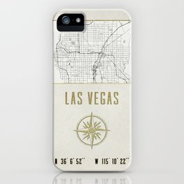 Las Vegas Nevada - Vintage Map and Location iPhone Case