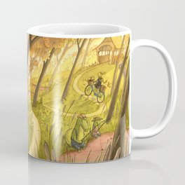 Bike Ride Through The Woods Coffee Mug