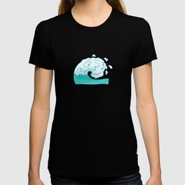 Kanagawa Water Wave Japaneses Funny And Aesthetic Art T-shirt