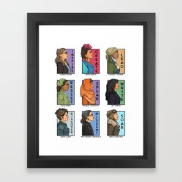 She Series Collage - Real Women Version 1 Framed Art Print