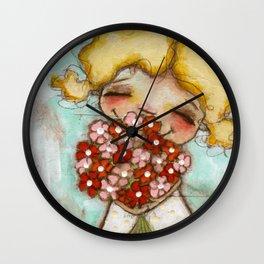 Smells like Spring - by Diane Duda Wall Clock