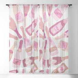 French Champagne Collection – Pink Sheer Curtain
