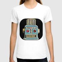 robot T-shirts featuring Robot by Silvio Ledbetter