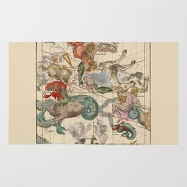 Constellations Andromeda, Pegasus, Cetus and Aries Rug