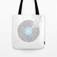 deadmau5 Tote Bags featuring This record listen million people by Sitchko Igor