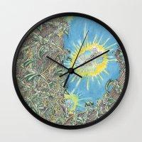 fairies Wall Clocks featuring Fairies by David Domike