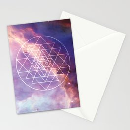 Seed of Life, Sacred Geometry, Meditation, Awakening, Stars, Mystical, Cosmos, Universe, Spiritual, Geometric, Metaphysical, Bohemian, Galaxy, New Age, Pastel, Starry Sky, Boho Style, Magical Home, Celestial, Cosmic Stationery Cards