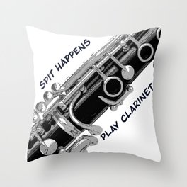 Love to Play Clarinet Throw Pillow