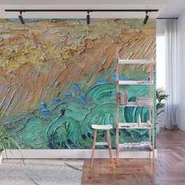 Wheat Field with Cypresses Brush Detail by Vincent van Gogh Wall Mural