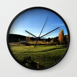 Sunrise with Mount Sopris - Glenwood Springs, CO Wall Clock