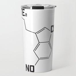 Techno serotonin molecule Travel Mug
