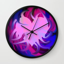 Mx in the heart Wall Clock