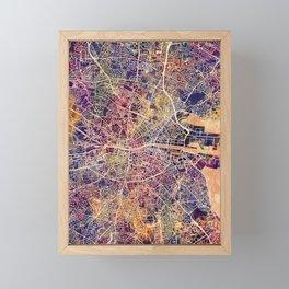 Dublin Ireland City Map Framed Mini Art Print