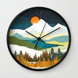 Winters Night Wall Clock
