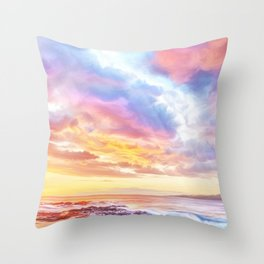 Calm before a storm Throw Pillow