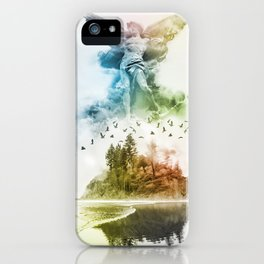 Angel in the Mist iPhone Case