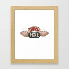 coffeehouse central perk Framed Art Print