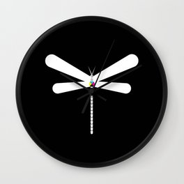 LibelluleMonde Black Branding Wall Clock