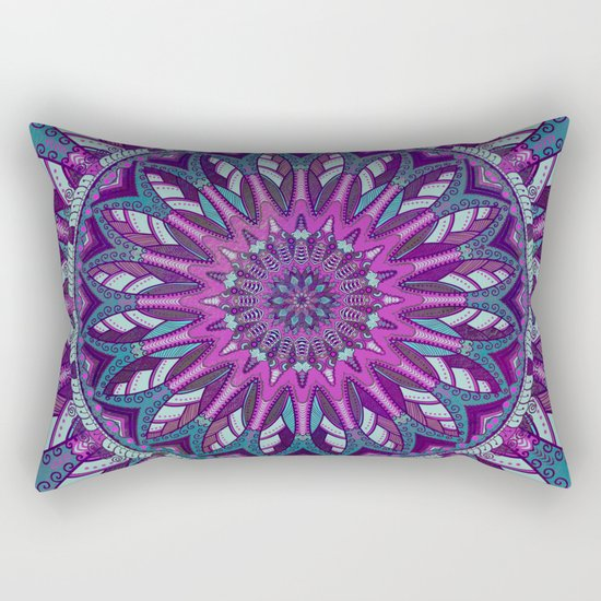 Iris Mandala 2 Rectangular Pillow