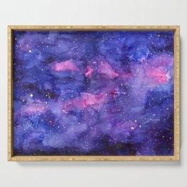 Galaxy Pattern Watercolor Serving Tray