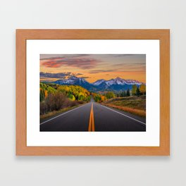 The Road To Telluride Framed Art Print