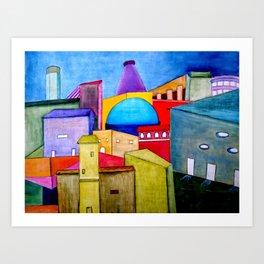 La Ciudad Alegre Art Print