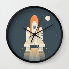 Spaceship Launch Wall Clock