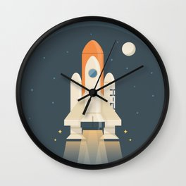 Spaceship Launch Wall Clock