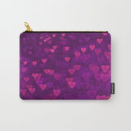 Abstract Pink Ultra Violet Love Heart Pattern | St Valentines day Carry-All Pouch