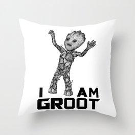 BabyGroot Throw Pillow