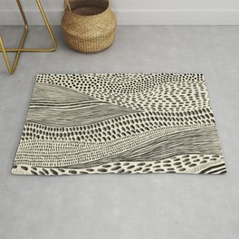 Hand Drawn Patterned Abstract II Rug