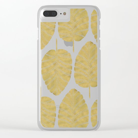 Elephant Ear Alocasia – Gold Palette Clear iPhone Case