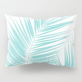 Soft Turquoise Palm Leaves Dream - Cali Summer Vibes #1 #tropical #decor #art #society6 Pillow Sham
