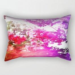 Bokeh Summer Floral Rectangular Pillow