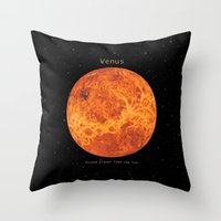 venus Throw Pillows featuring Venus by Terry Fan