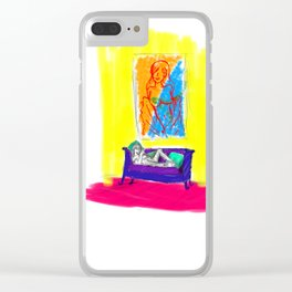 technicolour world dull day Clear iPhone Case