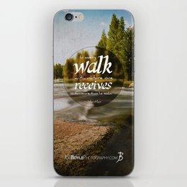 Rocks In The Stream iPhone Skin