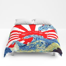 Rising Sun Over a Starry Sea (BB) Comforters
