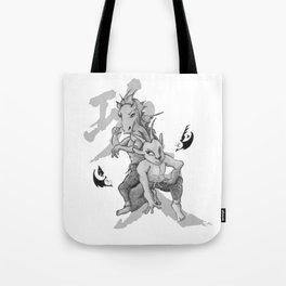 KungFu Zodiac - Horse and Goat Tote Bag