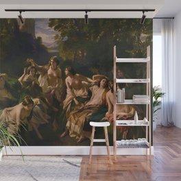 "1853 Classical Masterpiece ""Florinda"" by Franz Xaver Winterhalter Wall Mural"