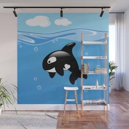 Orca, Cute Killer Whale Wall Mural