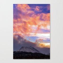 Flat Top Storm Clouds - Alaska Canvas Print