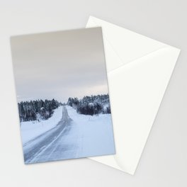 Icy Road in Finland Stationery Cards