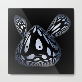 Bubble Mouse Metal Print